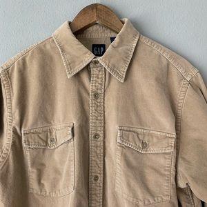 Gap Men's Corduroy Button-Down Shirt | Size Large